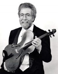 Don Ehrlich of San Francisco with his ergonomic viola