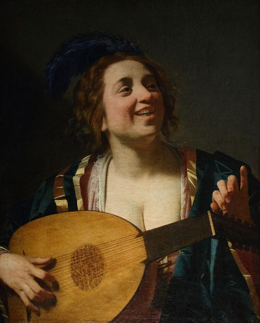 Femme_accordant_son_luth; Gerard van Honthorst (Gerrit van Honthorst) (1592–1656); Source:  Wikimedia